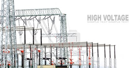 High voltage posts or High voltage towers