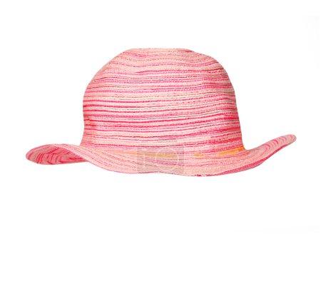 Photo pour Chapeau pour les vacances sur la plage. Chapeau en position pour insérer facilement le visage . - image libre de droit