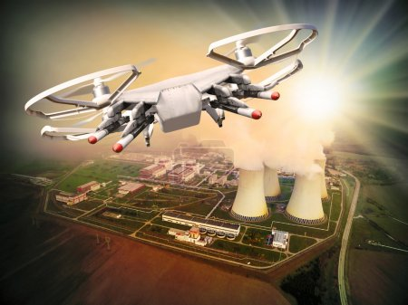 Drone attack to nuclear plant.