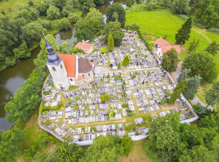 Aerial view to Romanic Church St. George