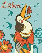 Lisbon crow fado singer