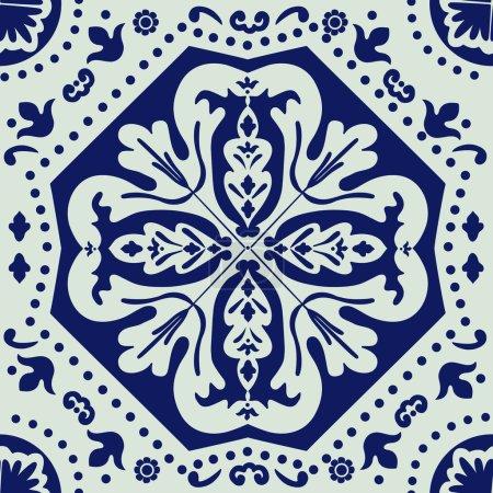 Illustration for An elegant ceramic tile ornament. Vector illustration - Royalty Free Image