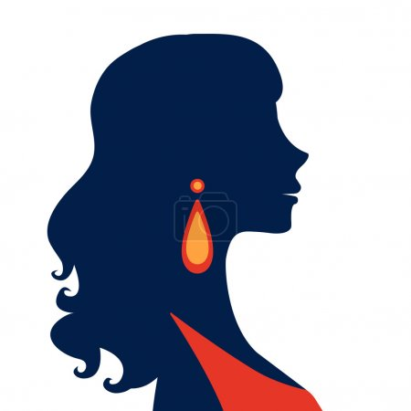 Beautiful  elegant woman silhouette