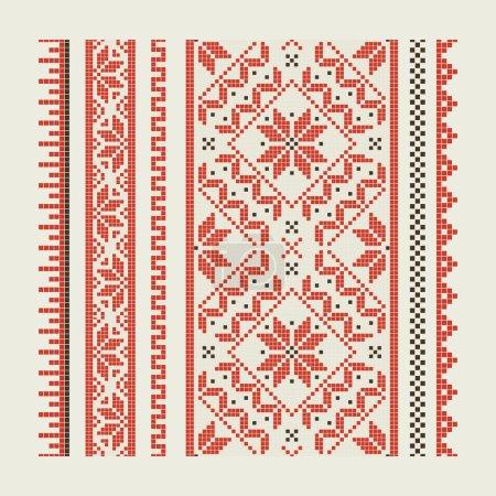 Illustration pour Ensemble de motifs ethniques - une broderie. Un vecteur . - image libre de droit