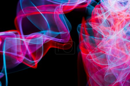 Abstract electric neon lights
