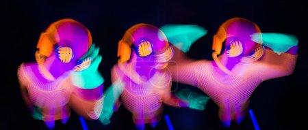 Sexy neon uv glow dancer
