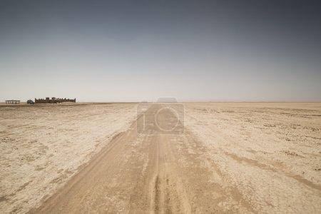 Photo pour Amazing sec Maroc désert sahara lac - image libre de droit
