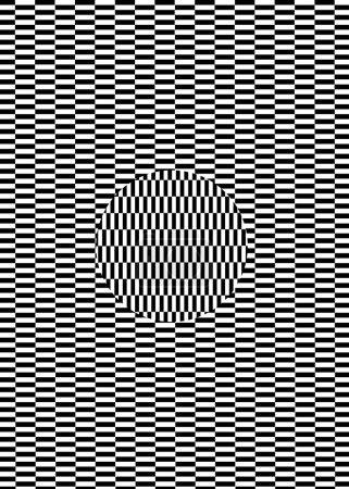 Illustraion of rectangle tile psycho illusion pattern