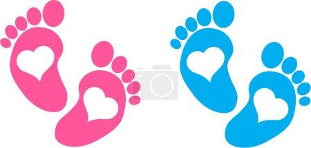 Photo pour Pieds bébé - image libre de droit