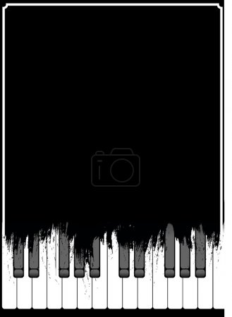 Photo pour Fond de piano - image libre de droit