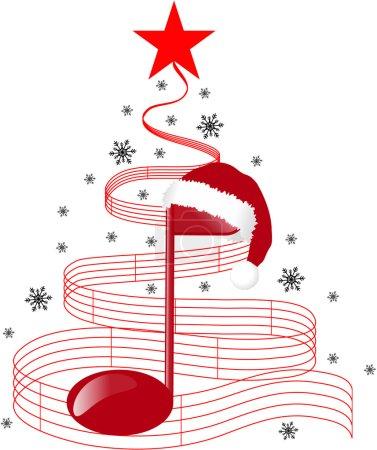 Photo pour Arbre de Noël musique - image libre de droit