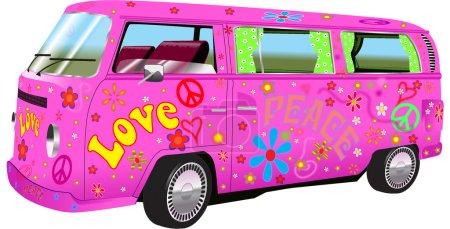 Hippy Van klassischer Camping-Kleinbus