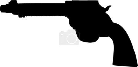 Standard  hand gun illustration in vector.