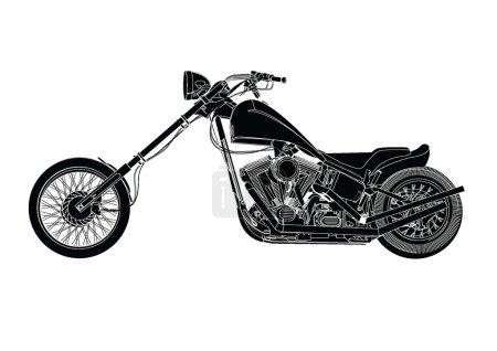 Photo pour Profil latéral de la Silhouette de la moto - image libre de droit