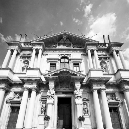 building old architecture in italy europe milan religion       a