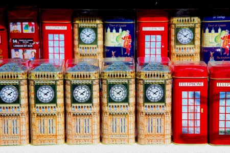 Photo pour Souvenir en anglais Londres boîte obsolète icône britannique classique - image libre de droit