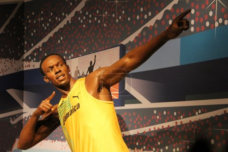 Usain Bolt wax statue