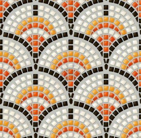 Antique mosaic, seamless vector pattern