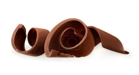 Illustration pour Copeaux de chocolat, illustration vectorielle - image libre de droit