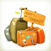 Bon voyage travel icon vector illustration