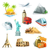 Travel set of vector icons