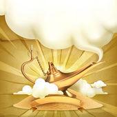 Genie lamp vector illustration