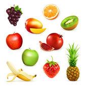 Fruits set of vector illustrations