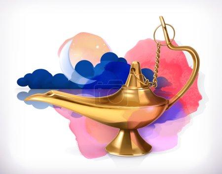 Arabic night genie lamp