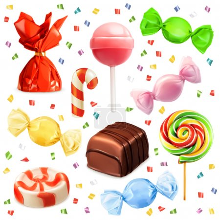 Set with candies  icons