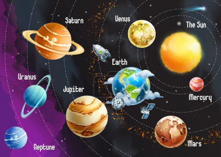 Illustration for Solar system of planets - Royalty Free Image