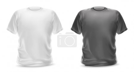 White and gray t-shirts