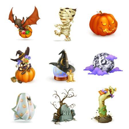 Happy Halloween set of   icons