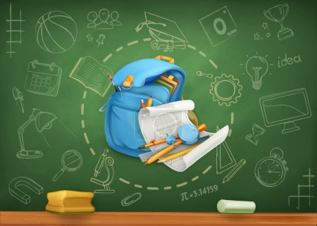 Illustration for School, infographics vector background - Royalty Free Image