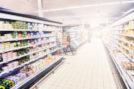 Photo for Supermarket blurry background with copy space - Royalty Free Image