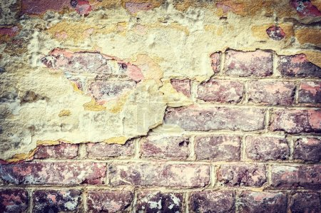 Photo for Old and cracky brick wall. Grunge background - Royalty Free Image