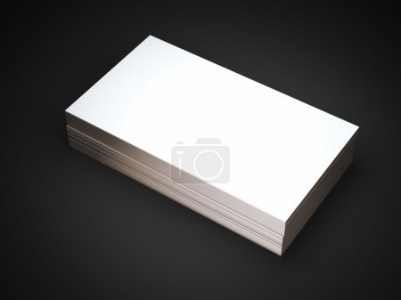 Stack of white business cards with golden edges