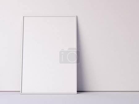 Wjhite blank canvas. 3d rendering