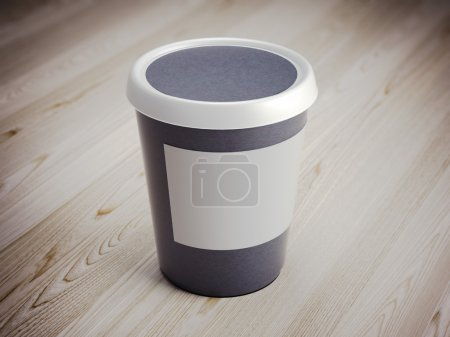 White food plastic container. 3d rendering