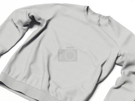 Hoody in white studio. 3d rendering