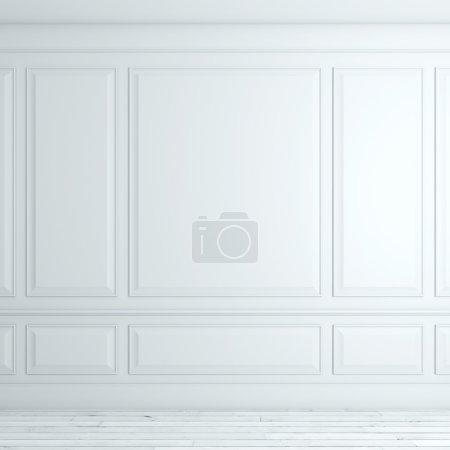 Photo pour Blanc intérieur classique avec étage. rendu 3D - image libre de droit