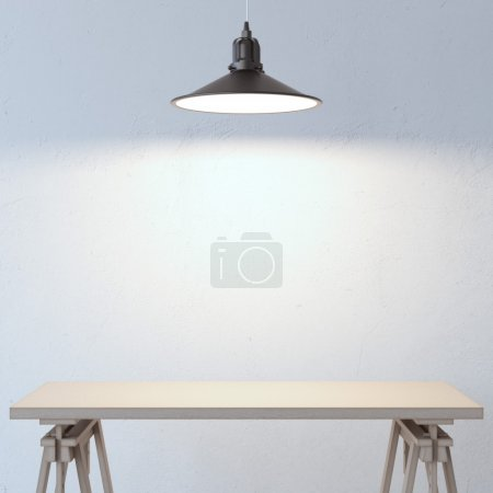 Table and lamp
