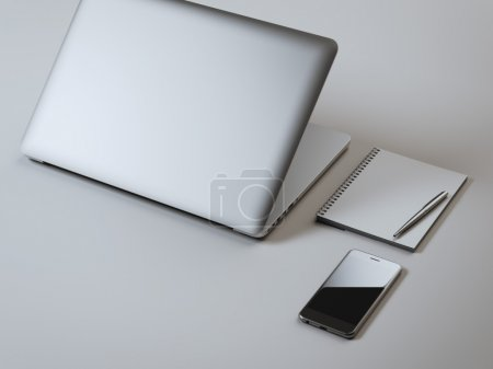 Branding mockup with laptop