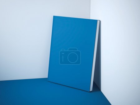 Blank blue book