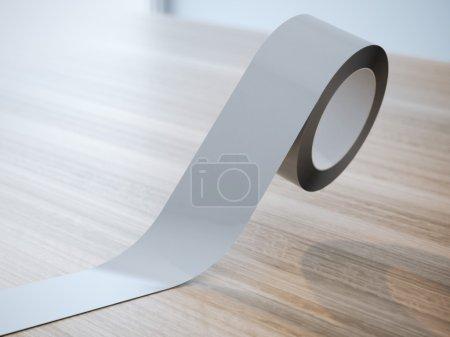 Gray insulating tape roll
