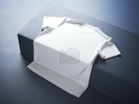 White t-shirt in the modern studio