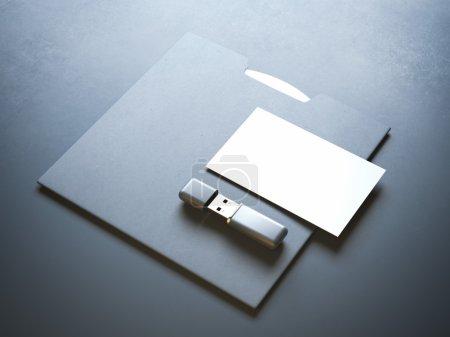 Mockup with flash drive