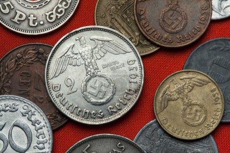 Coins of Nazi Germany. Nazi eagle