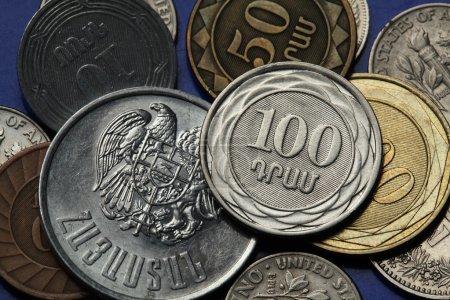 pièces de monnaie de l'Arménie