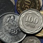 Coins of Armenia. Armenian one hundred dram coin a...