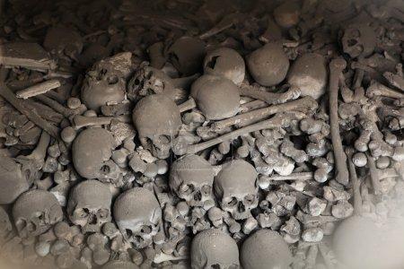 Human bones and skulls